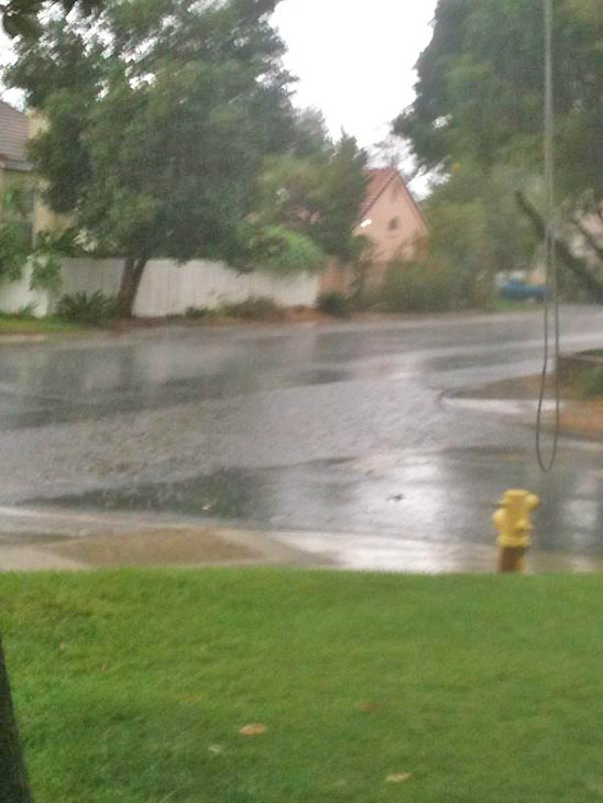 ABC7 viewer @lovsom1wautism sent us this photo via Twitter of rain in Fontana on Thursday, Oct. 11, 2012.