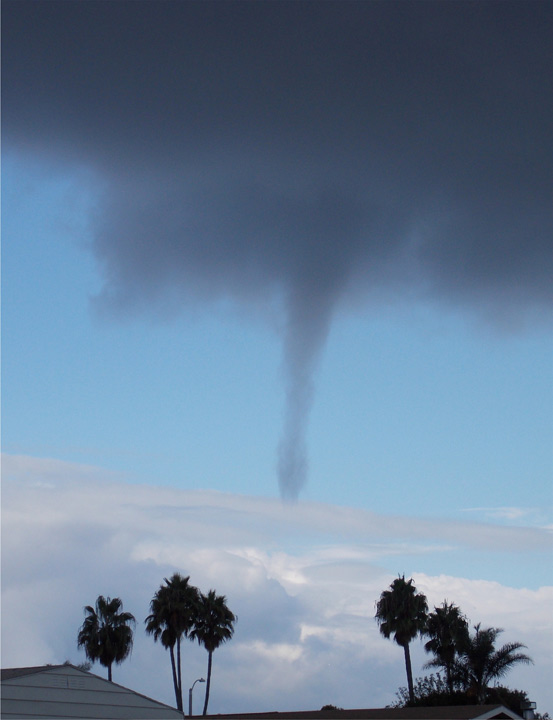 ABC7 viewer Jim Popken of Huntington Beach sent us this photo of a waterspout over Sunset Beach Friday, Oct. 12, 2012 following a bout of rain that hit Southern California on Thursday, Oct. 11, 2012.    <span class=meta>(ABC7 viewer Jim Popken)</span>