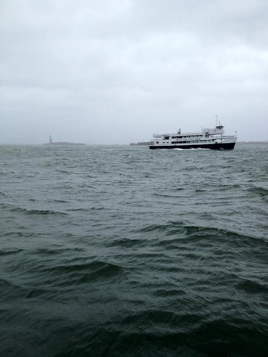 This is a view of the waters from Battery Park in New York City as Hurricane Sandy approaches on Monday, Oct. 29, 2012. <span class=meta>(KABC Reporter Rob McMillan)</span>