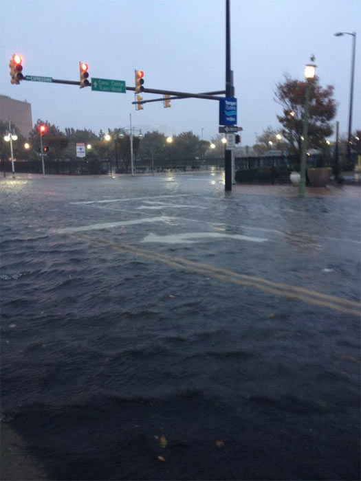 Streets are flooded in Atlantic City on Monday, Oct. 29, 2012. <span class=meta>(Twitter&#47;aubreyjwhelan)</span>