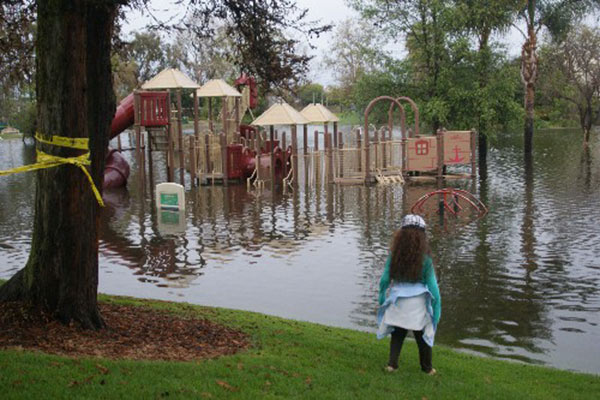ABC7 viewer Ken sent in this photo of a flooded playground in Manhattan Beach via email on Friday, Feb. 28, 2014. When You Witness breaking news, or even something extraordinary, send pictures and video to video@abc7.com, or post them to the ABC7 Facebook page or to @abc7 on Twitter  <span class=meta>(Ken)</span>