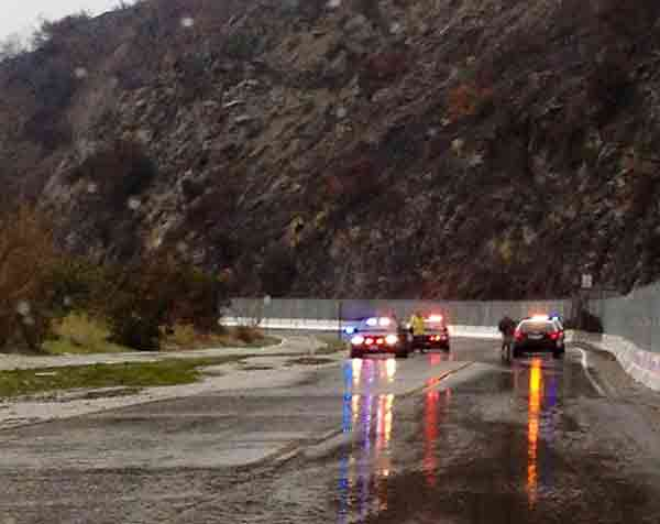 ABC7 viewer Yvonne Milton sent in this photo of Highway 39 in Azusa via Facebook on Saturday, March 1, 2014. The area was closed due to possible mudslides. When You Witness breaking news, or even something extraordinary, send pictures and video to video@abc7.com, or post them to the ABC7 Facebook page or to @abc7 on Twitter  <span class=meta>(Yvonne Milton)</span>