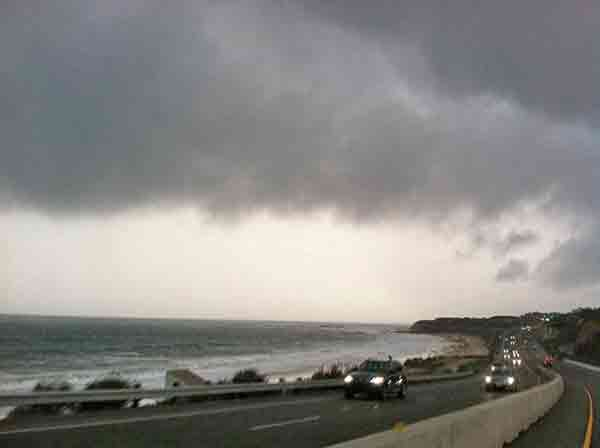 ABC7 viewer Tricia Jacinto Zeglovitch sent in this photo of Pacific Coast Highway in Laguna Beach via Facebook on Sunday, March 2, 2014. When You Witness breaking news, or even something extraordinary, send pictures and video to video@abc7.com, or post them to the ABC7 Facebook page or to @abc7 on Twitter  <span class=meta>(Tricia Jacinto Zeglovitch)</span>