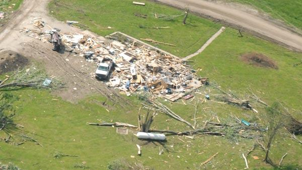 Tornado damage in Iowa