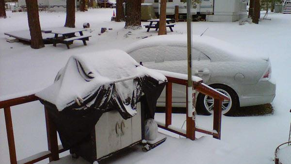 ABC7 viewer Eric Brown sent this photo from Big Bear City.