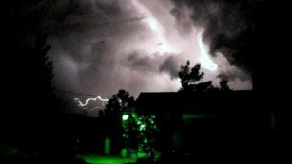 ABC7 viewer Will Cook sent in this photo of lightning on Tuesday, Oct. 19, 2010.