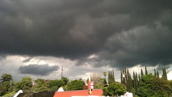 ABC7 viewer V. Richardson of Monterey Park sent in this photo of storm clouds