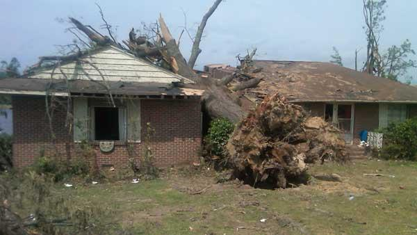 Eyewitness News anchor Marc Brown reports from tornado-damaged Tuscaloosa, Alabama.
