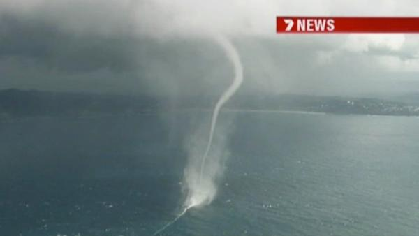 Three incredible waterspouts were spotted just outside Sydney, Australia, carving their way off the coast on Monday, May 30, 2011.