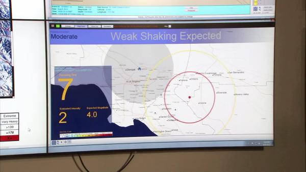 CalTech tests early-warning earthquake system
