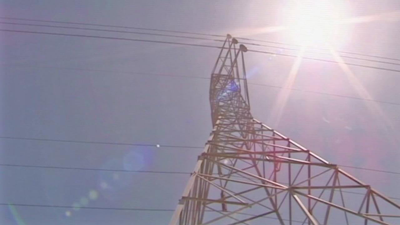 Power lines are seen in this undated file photo.