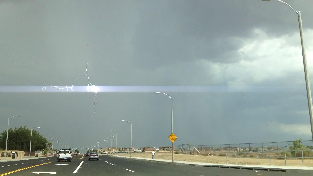 ABC7 viewer Cesar Ponciano sent in this photo of lightning in Palmdale on Thursday, August 30, 2012.ABC7 viewer Cesar Ponciano