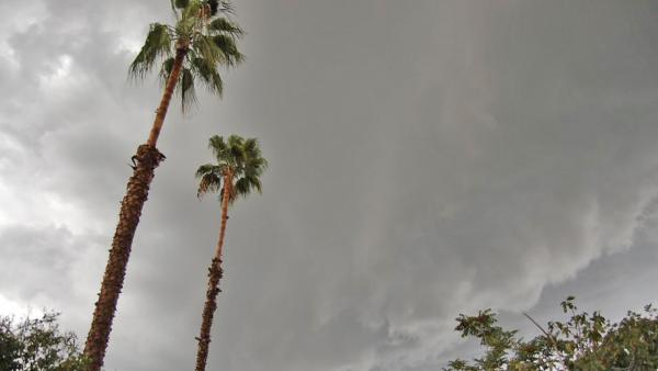 ABC7 viewer Derick Rickenback sent us this photo via Facebook of cloudy skies in Riverside on Thursday, Oct. 11, 2012.