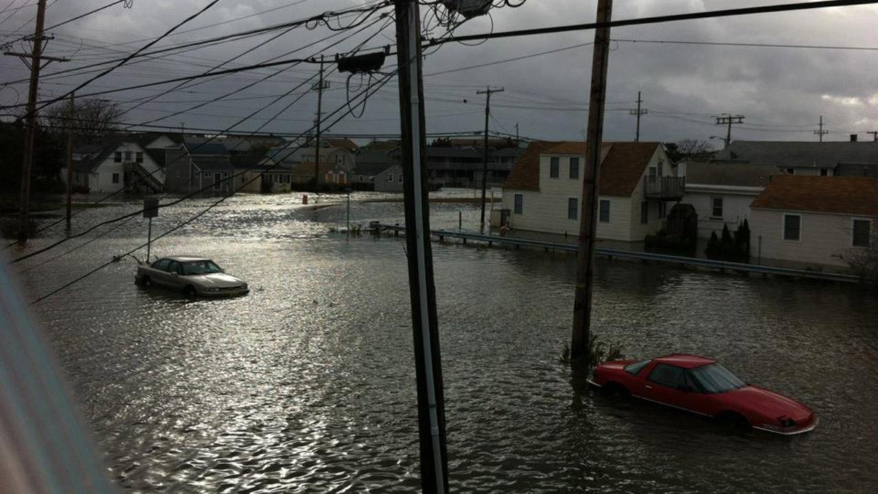 A flooded street in Seaside Heights, N.J., is seen in the wake of Superstorm Sandy on Tuesday, Oct. 30, 2012.Tim Husar and Jan Humphreys