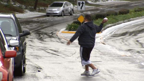 Storm surprises LA County residents with snow