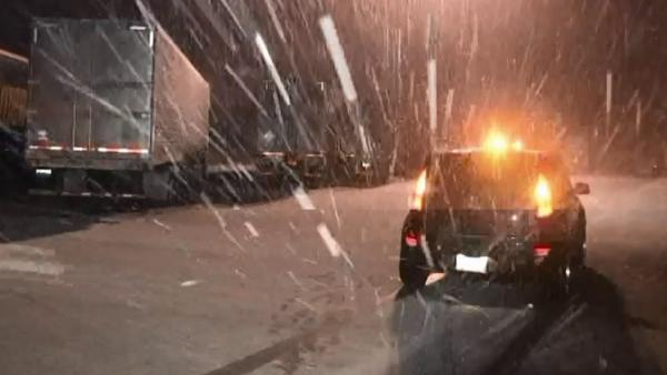 Snow, ice in mountains catch drivers off guard