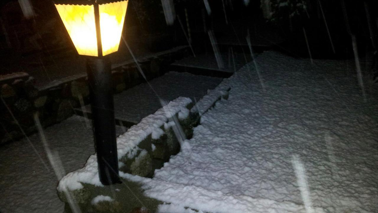 ABC7 viewer Charles Bruce sent us this photo of snow in Acton during a storm that hit Southern California on Friday, March. 8, 2013. <span class=meta>(ABC7 viewer Charles Bruce)</span>