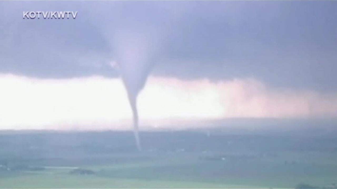 A tornado touches down in Moore, Oklahoma on Monday, May 20, 2013. <span class=meta>(Courtesy of KOTV&#47;KWTV)</span>