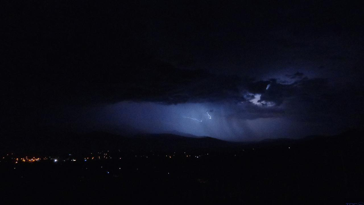 Residents in Idyllwild saw the night sky light up after a storm system brought some lightning to the area Sunday, July 21, 2013. <span class=meta>(Tane-Ariki Donn Coromandel)</span>
