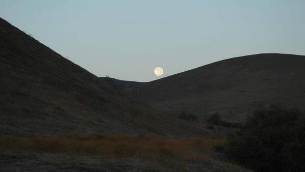 This photo from ABC7 viewer Gayl Weldon shows the Blue Moon over Chino Hills on Wednesday, Aug. 21, 2013.