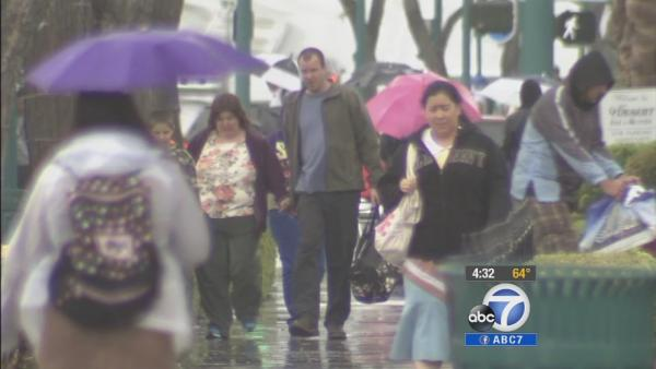 Orange County sees mix of rain and sun