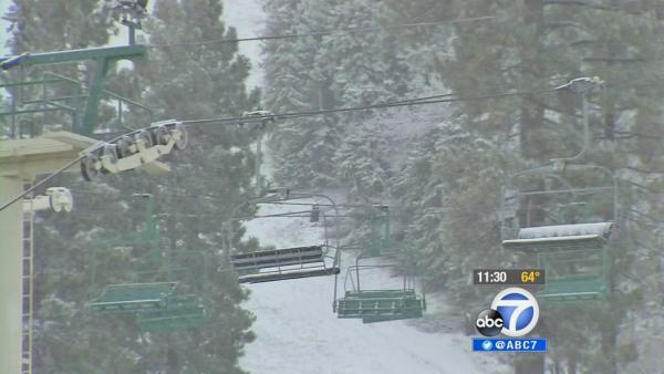 SoCal slopes may open early if snow resumes