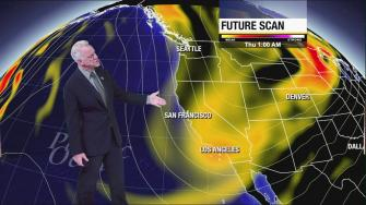 Weathercaster Garth Kemp says a cold snap is moving across the Southland.