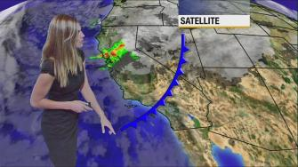 Meteorologist Bri Winkler says a fast moving storm is driving rain across Southern California and snow in the local mountains on Saturday, Dec. 7, 2013.