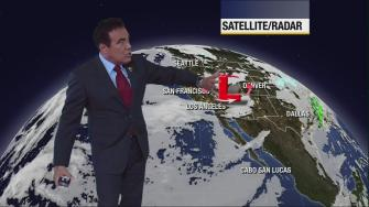 ABC7 weathercaster Danny Romero says there will be plenty of sunshine across Southern California on Monday, Dec. 9, 2013, but it will still be cold and windy.