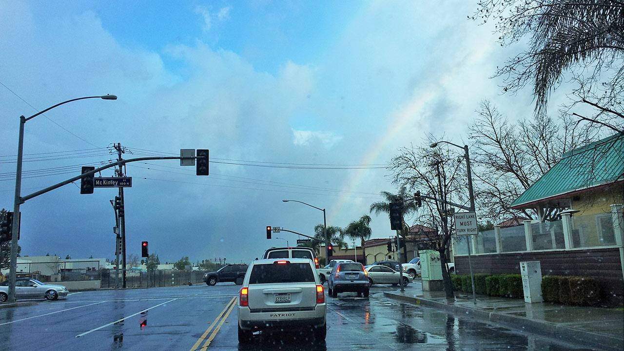 An ABC7 viewer sent in this photo of rain-drenched roads in Southern California on Saturday, March 1, 2014. <span class=meta>(ABC7 Viewer)</span>