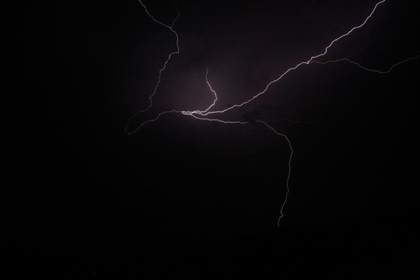 ABC7 viewer Marcia Gray sent in this photo of lightning seen from Santa Clarita on Tuesday, Oct. 19, 2010.  When You Witness breaking news, or even something extraordinary, send pictures and video to video@myabc7.com, or send them to @abc7 on Twitter <span class=meta>(ABC7 viewer Marcia Gray)</span>