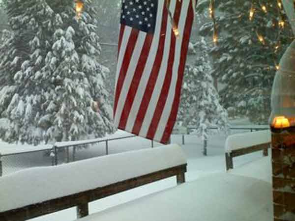 ABC7 viewer Bridgette Machado sent in this photo of snow at Big Bear City, Calif. on Saturday Feb. 26, 2011.  When You Witness breaking news, or even something extraordinary, send pictures and video to video@myabc7.com, or send them to @abc7 on Twitter <span class=meta>(KABC photo&#47; Bridgette Machado)</span>