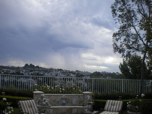 ABC7 viewer Crista sent in this photo of storm clouds in Laguna Niguel following a rain storm on Thursday, Sept. 30, 2010.  &#160;When you witness breaking news happen, send your photos to video@myabc7.com, or send them to @abc7 on Twitter <span class=meta>(ABC7 viewer Crista)</span>