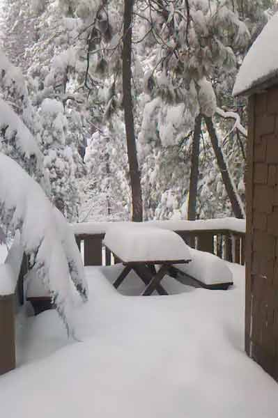 ABC7 viewer Dan Brumett sent in this photo of snow at Idyllwild, Calif. on Saturday Feb. 26, 2011.  When You Witness breaking news, or even something extraordinary, send pictures and video to video@myabc7.com, or send them to @abc7 on Twitter <span class=meta>(KABC photo&#47; Dan Brumett)</span>