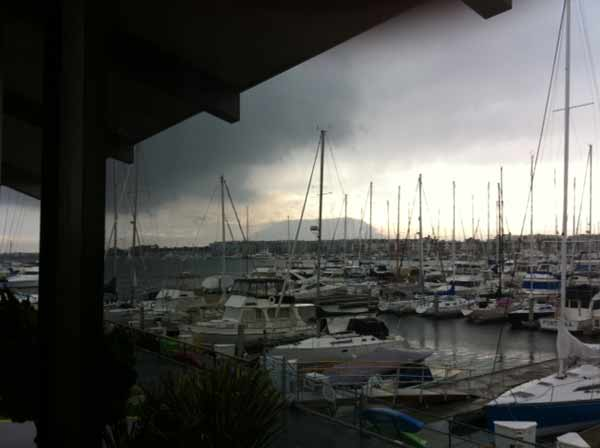 ABC7 viewer Dick Drechsler sent in this photo of clouds at Marina del Rey, Calif. on Friday Sept. 30, 2011.  When You Witness breaking news, or even something extraordinary, send pictures and video to video@myabc7.com, or send them to @abc7 on Twitter <span class=meta>(KABC photo&#47;  Dick Drechsler)</span>