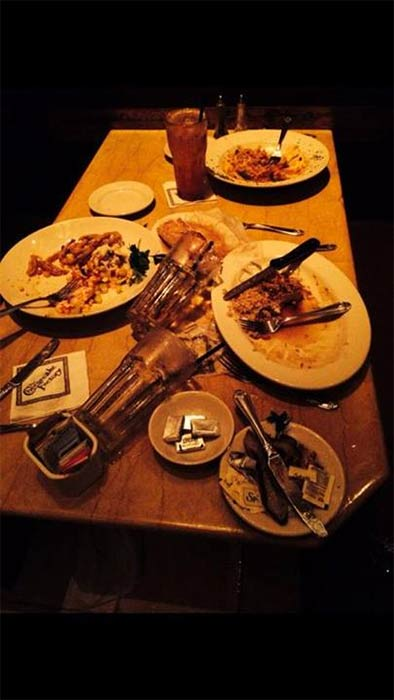 "<div class=""meta image-caption""><div class=""origin-logo origin-image ""><span></span></div><span class=""caption-text"">ABC7 viewer Elizabeth Lopez shared this photo on our Facebook page of a table at The Cheesecake Factory in Brea following a 5.1 earthquake near La Habra on Friday, March 28, 2014. When You Witness breaking news, or even something extraordinary, send pictures and video to video@abc7.com, or post them to the ABC7 Facebook page or to @abc7 on Twitter. (Elizabeth Lopez)</span></div>"