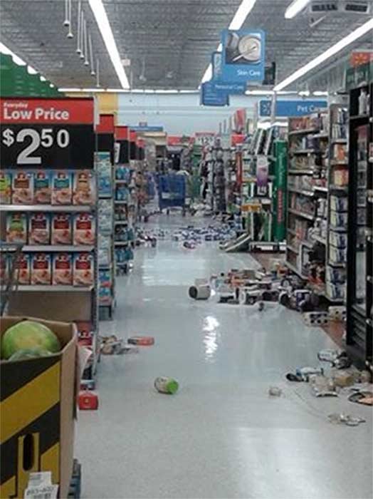 "<div class=""meta ""><span class=""caption-text "">ABC7 viewer Brandy Stowell shared this photo on our Facebook page of a Wal-Mart store in La Habra following a 5.1 earthquake near La Habra on Friday, March 28, 2014. When You Witness breaking news, or even something extraordinary, send pictures and video to video@abc7.com, or post them to the ABC7 Facebook page or to @abc7 on Twitter. (Brandy Stowell)</span></div>"