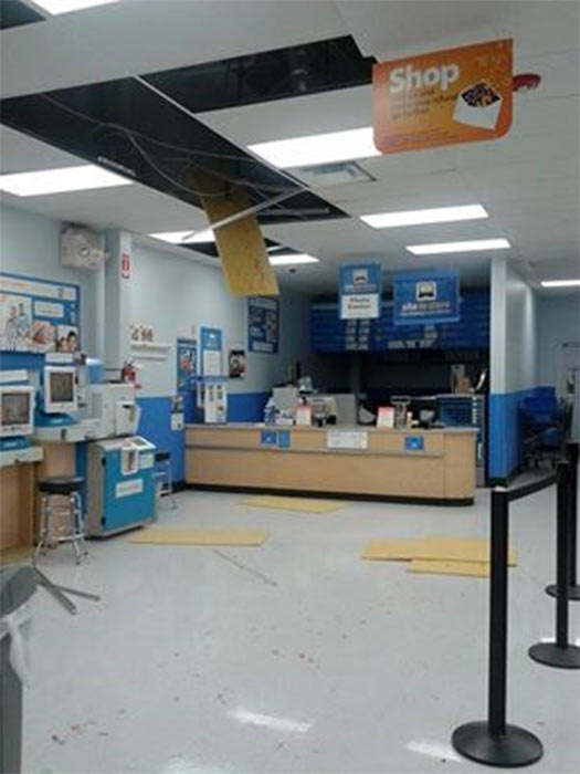 ABC7 viewer Brandy Stowell shared this photo on our Facebook page of a Wal-Mart store in La Habra following a 5.1 earthquake near La Habra on Friday, March 28, 2014. When You Witness breaking news, or even something extraordinary, send pictures and video to video@abc7.com, or post them to the ABC7 Facebook page or to @abc7 on Twitter. <span class=meta>(Brandy Stowell)</span>