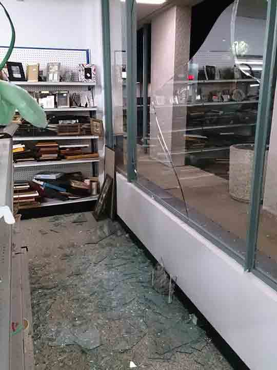 ABC7 viewer Miguel Galindo shared this photo of a Goodwill in La Habra following a 5.1 earthquake near La Habra on Friday, March 28, 2014. When You Witness breaking news, or even something extraordinary, send pictures and video to video@abc7.com, or post them to the ABC7 Facebook page or to @abc7 on Twitter. <span class=meta>(Miguel Galindo)</span>