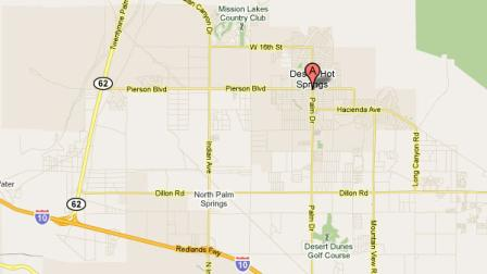 A 3.1-magnitude earthquake hit near the Desert Hot Springs area Sunday, June 5, 2011.