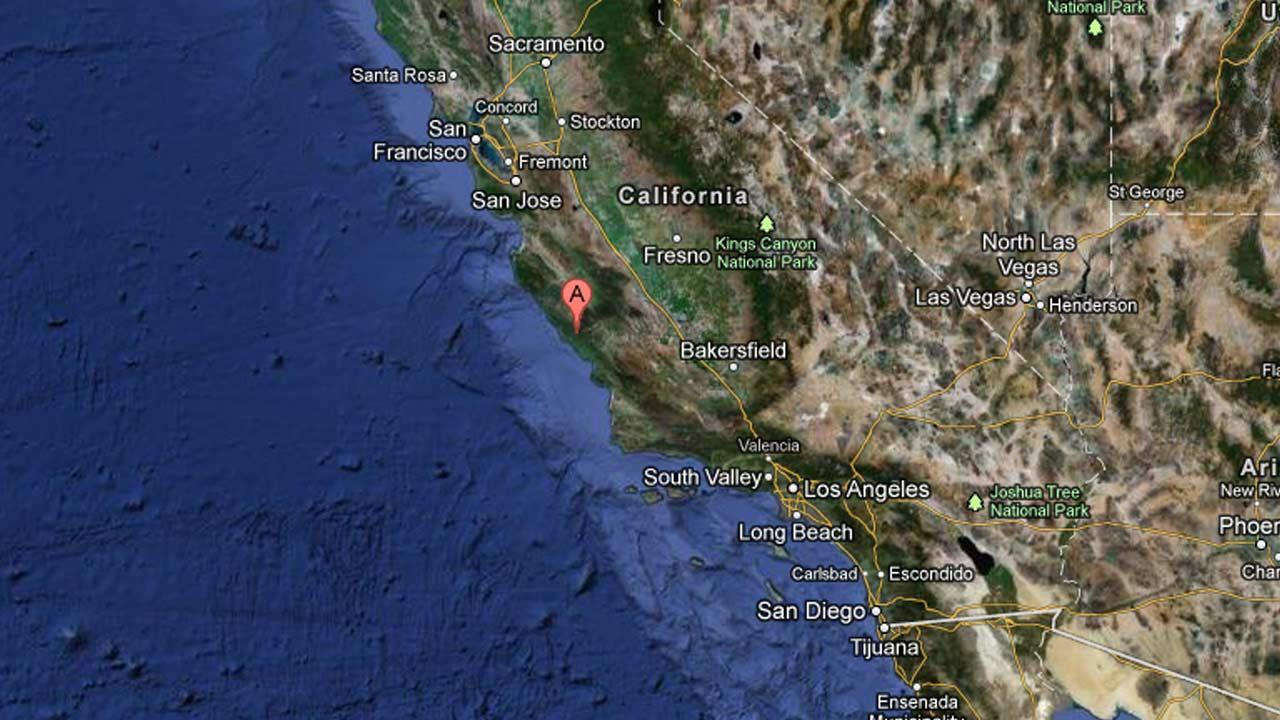 A small earthquake shook 7 miles northeast of San Simeon, Calif. on Thursday, March 28, 2013.