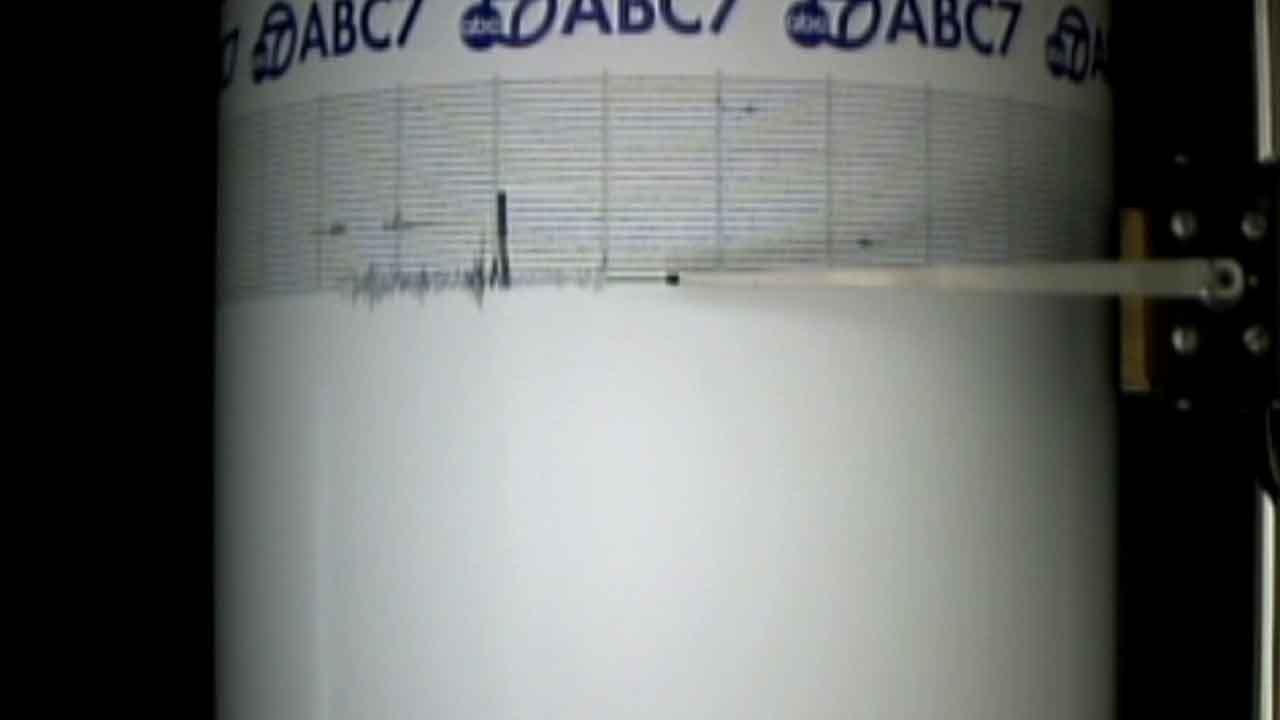 The ABC7 Quake Cam captured the 6.8 earthquake that struck 83 kilometers SW of Etchoropo, Mexico Saturday, Oct. 19, 2013.