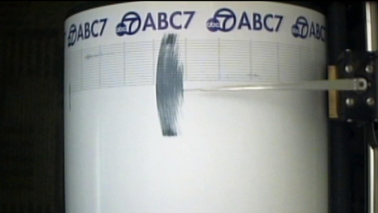 The ABC7 Quake Cam captured the shaking when an earthquake with a magnitude of 3.9 struck the Castaic area on Saturday, March 15, 2014.