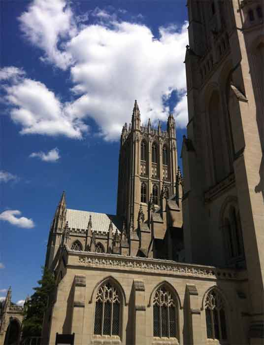 Twitter user @walkeje posted this photo showing structural damage to the Washington National Cathedral following the 5.8-magnitude earthquake that struck Virginia on Tuesday, August 23, 2011. <span class=meta>(twitter.com&#47;walkeje)</span>