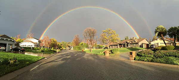 ABC7 viewer Eric Zimmerman sent in this photo of a double rainbow over Camarillo via email on Friday, Feb. 28, 2014. When You Witness breaking news, or even something extraordinary, send pictures and video to video@abc7.com, or post them to the ABC7 Facebook page or to @abc7 on Twitter  <span class=meta>(Eric Zimmerman)</span>
