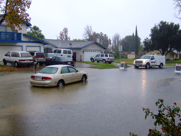 An ABC7 viewer sent in this photo of a flooded street in Rialto at Idyllwild Avenue and Wedgewood Court on Sunday, Dec. 19, 2010.  When You Witness breaking news, or even something extraordinary, send pictures and video to video@myabc7.com, or send them to @abc7 on Twitter <span class=meta>(ABC7 viewer)</span>