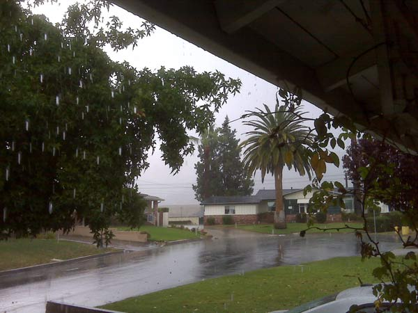 An ABC7 viewer sent in this photo of rain falling in Glendora during a storm on Friday, Oct. 1, 2010.  &#160;When you witness breaking news happen, send your photos to video@myabc7.com, or send them to @abc7 on Twitter <span class=meta>(ABC7 viewer)</span>