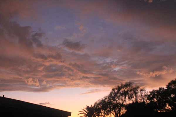 ABC7 viewer Heather Fennell sent in this photo of clouds at Pacific Palisades, Calif. on Friday Sept. 30, 2011.
