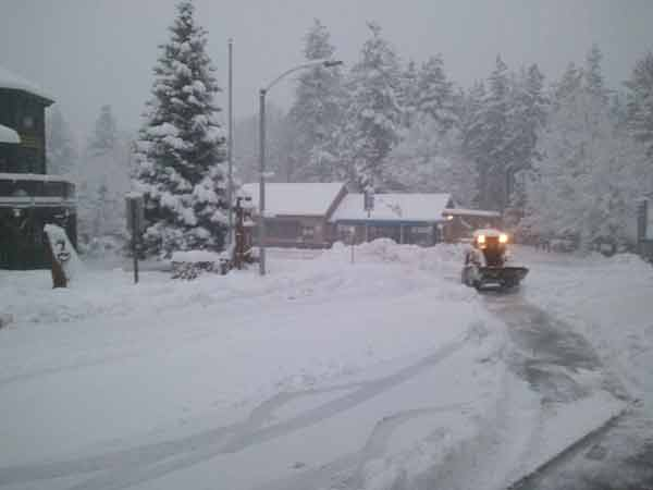 ABC7 viewer Jill Gooch sent in this photo of snow at Idyllwild, Calif. on Saturday Feb. 26, 2011.  When You Witness breaking news, or even something extraordinary, send pictures and video to video@myabc7.com, or send them to @abc7 on Twitter <span class=meta>(KABC photo&#47; Jill Gooch)</span>