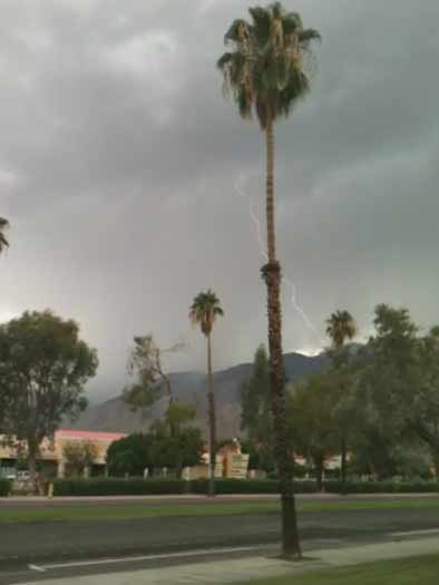 ABC7 viewer Joey Altherr sent in this photo of lightning at Palm Springs, Calif. on Friday Sept. 30, 2011.  When You Witness breaking news, or even something extraordinary, send pictures and video to video@myabc7.com, or send them to @abc7 on Twitter <span class=meta>(KABC photo&#47; Joey Altherr)</span>